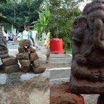 Foto: Arca Ganesha yang ditemukan warga Kepung Kediri. (Ist)