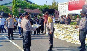 Polres tuban kembali salurkan bansos 10 ton beras