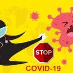 Ilustrasi stop virus corona atau COVID-19