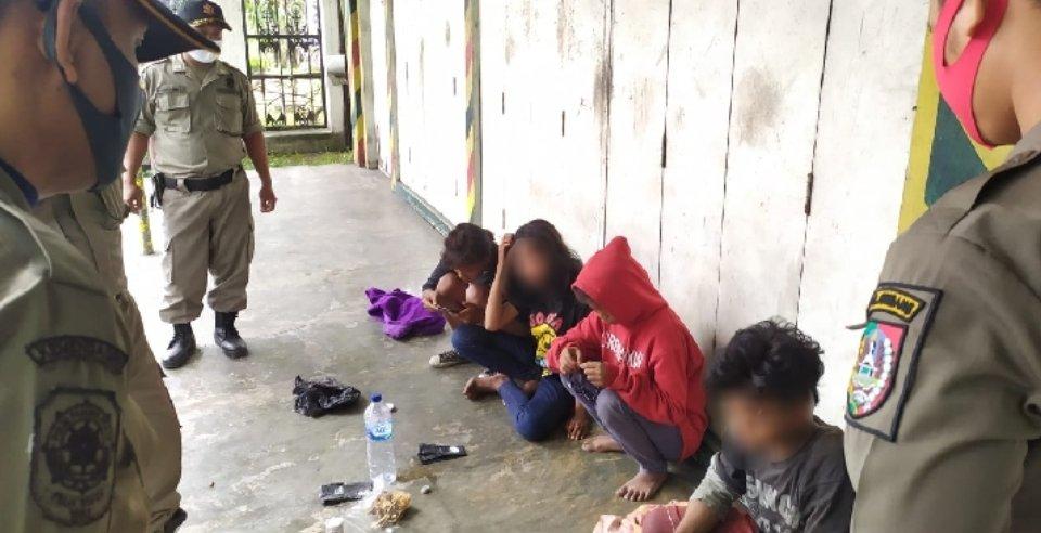Anjal diamankan satpol PP Jombang