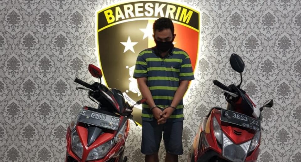 Kejahatan Pria Kediri Terbongkar, Awalnya Embat Motor Teman Lalu Mencuri
