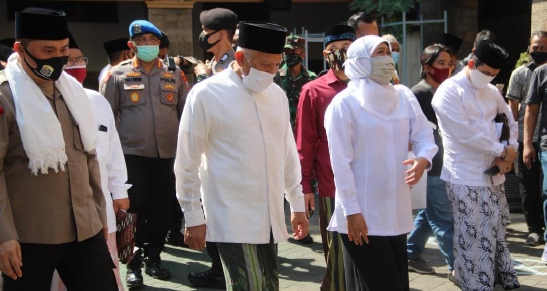 Gubernur, Pangdam dan Kapolda Jatim Kunjungi Pesantren Tangguh di Jombang
