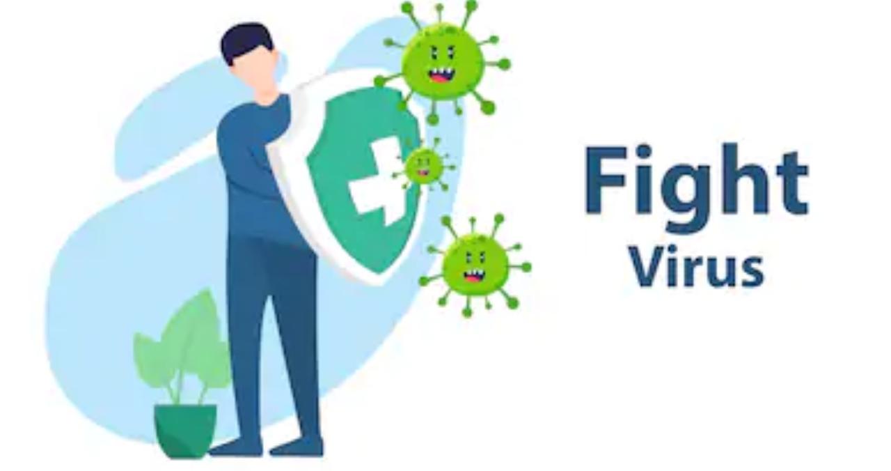 Ilustrasi melawan virus corona