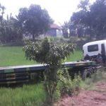 Selip, Truk Trailer Nyelonong Masuk Sawah di By Pass Jombang