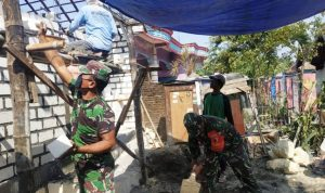 TNI Kodim Bojonegoro Renovasi 33 Unit Rumah Program Aladin