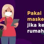 Ilustrasi pakai masker jika di luar rumah