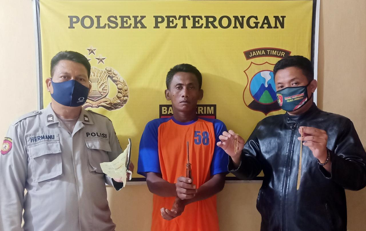 Jual Emas Hasil Curian, Buruh Tani Jombang Ditangkap Polisi