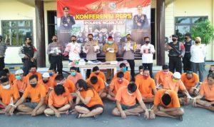 Polres Nganjuk Ringkus 30 Pelaku Narkoba di Tengah Pandemi Corona
