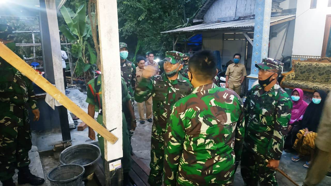 Danrem 082/CPYJ Kunjungi Lokasi TMMD Imbangan 2020 Kodim Bojonegoro