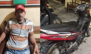 Pencuri Motor Perangkat Desa di Sawah Diciduk Polisi di Nganjuk
