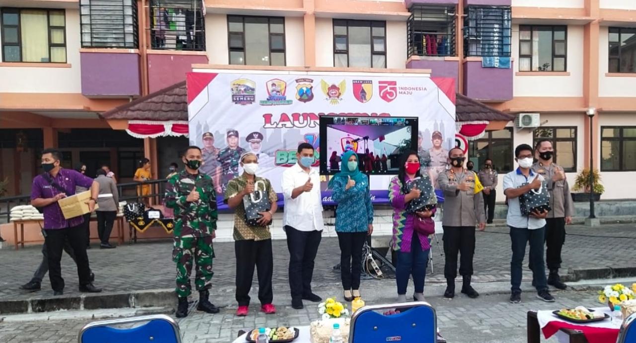 Walikota Kediri Launching Jatim Bermasker di Rusunawa Dandangan