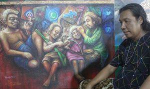 Hikmah Dibalik Pandemi COVID-19 Dalam Lukisan Cak Lukman Jombang