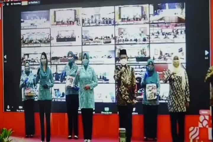 Kota Madiun Ikuti Peluncuran Gerakan 26 Juta Masker Lewat Daring