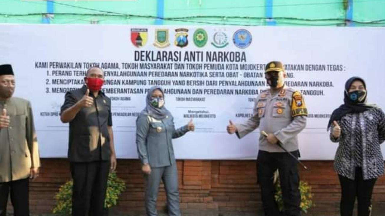 Mantab.. Kota Mojokerto Canangkan Kampung Tangguh Anti Narkoba