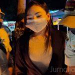 Alamakk.. Wanita Cantik Ini Terjaring Razia Masker di Jombang