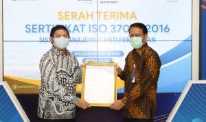 KAI Raih Sertifikat ISO 37001:2016 Sistem Manajemen Anti Penyuapan