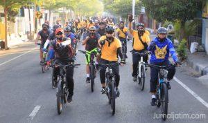 Tingkatkan Soliditas, Polres Dan Kodim Gowes Bareng di Jombang