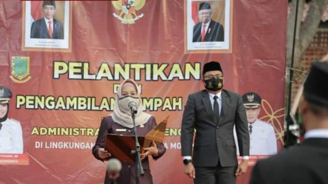 Ika Puspitasari Lantik 28 Pejabat Administrator Dan Pengawas Kota Mojokerto