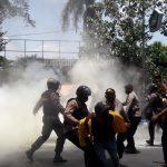 Demo Mahasiswa Jombang Tolak Omnibus Law Ricuh, 1 Orang Diamankan