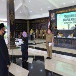 Mundjidah Kukuhkan Pengurus Baznas Jombang Dengan Protokol Kesehatan
