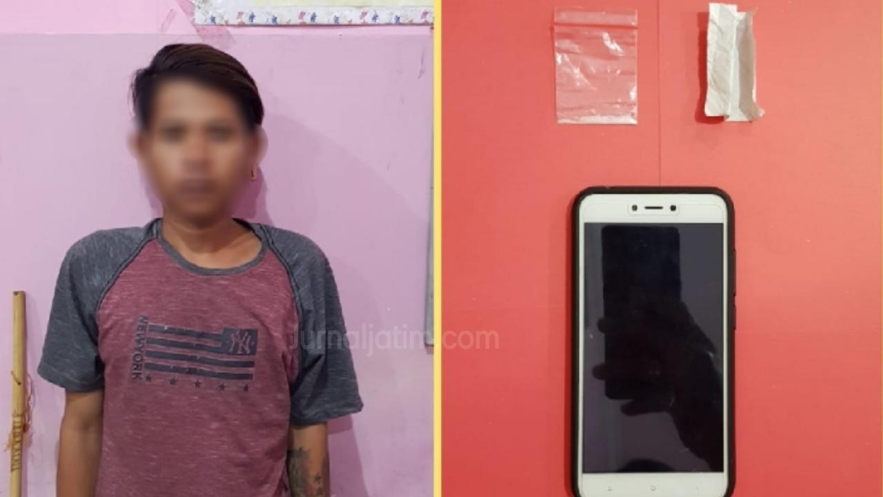 Bawa Sabu, Residivis Curanmor Dibekuk Satreskoba Polres Jombang di Warung