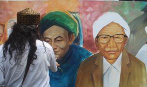 Peringati Hari Santri, 22 Pelukis di Jombang Melukis Resolusi Jihad