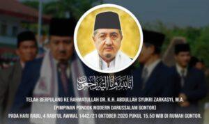 Pimpinan Pondok Modern Darussalam Gontor KH Abdullah Syukri Wafat