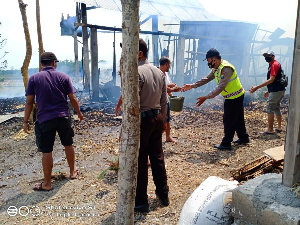 Bangunan Kandang Milik Petani di Nganjuk Terbakar, Kerugian Rp25 Juta
