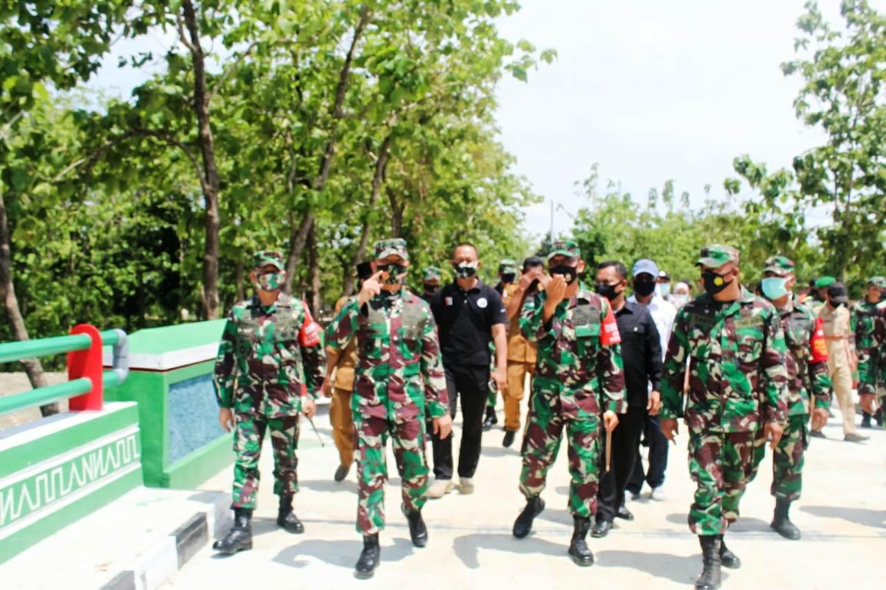 Kodim Bojonegoro Terima Kunjungan Waaster KASAD Untuk Program Bakti TNI
