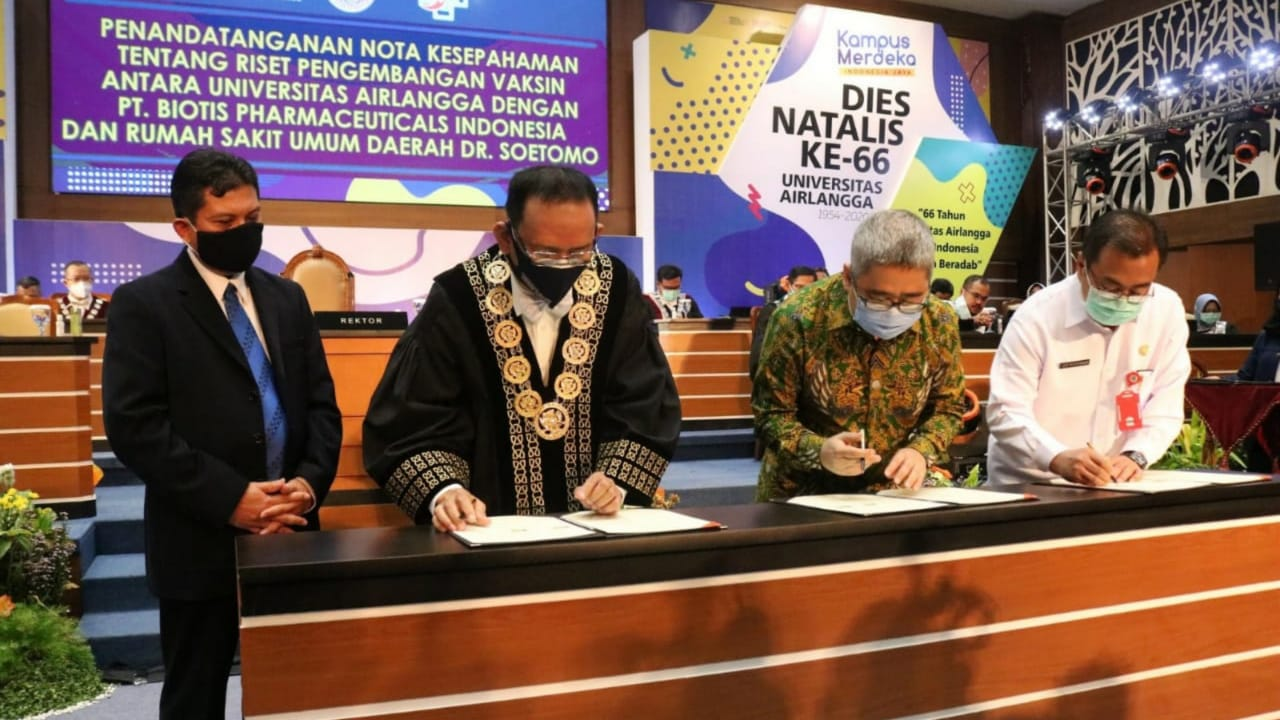 Vaksin COVID-19 Unair Surabaya Siap Tahap Uji Coba Pada Hewan